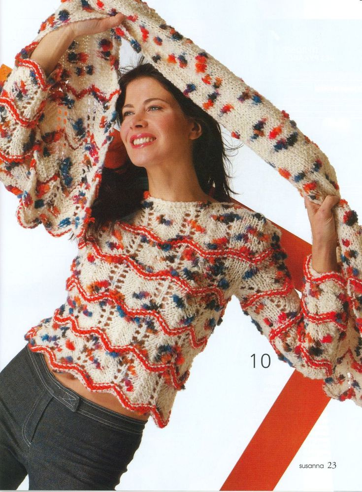 пальто вязаное меланж