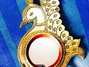 Aranmula Kannadi — металлическое зеркало из Индии. Ярмарка Мастеров - ручная работа, handmade.