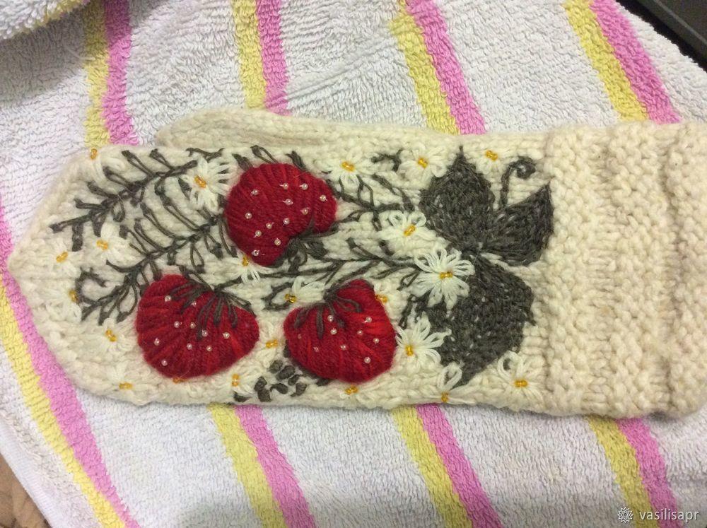 """立体绣教程:手套""""草莓"""" - maomao - 我随心动"""