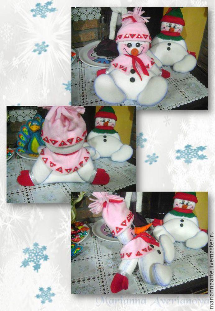 Мастер-класс по созданию забавной новогодней игрушки «Снеговичок-тюфячок», фото № 31