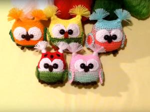 Видео мастер-класс: как связать очаровательную сову. Ярмарка Мастеров - ручная работа, handmade.