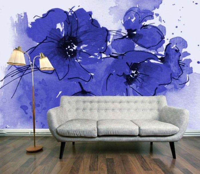 Абстракция своими руками на стене