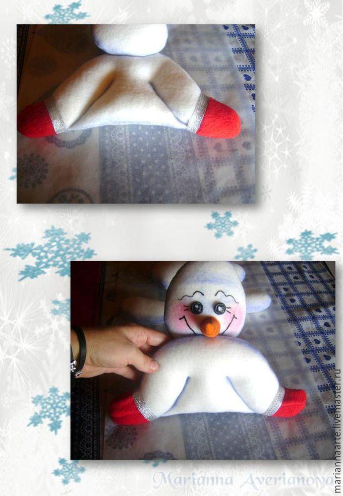 Мастер-класс по созданию забавной новогодней игрушки «Снеговичок-тюфячок», фото № 24