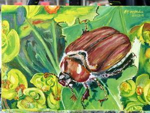 Картина Майский жук — больше фото. Ярмарка Мастеров - ручная работа, handmade.