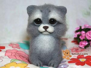 МК по валянию Котенка | Ярмарка Мастеров - ручная работа, handmade