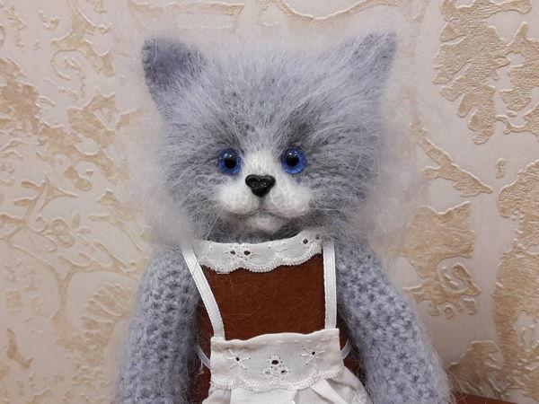 Кошка вязаная Первоклашка | Ярмарка Мастеров - ручная работа, handmade