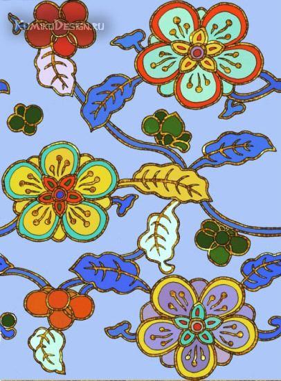 Мозаичный декор колонны, эскиз, дизайнер Юлия Дружинина