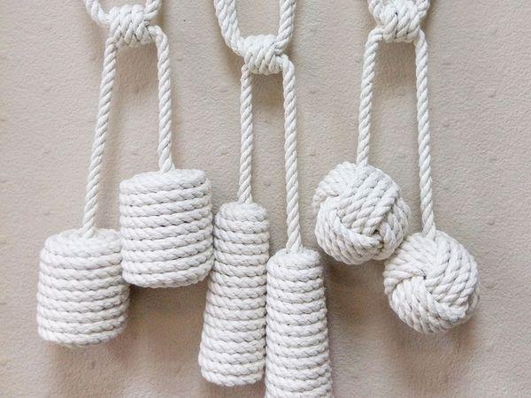 20 видов подхватов для штор из шнура   Ярмарка Мастеров - ручная работа, handmade