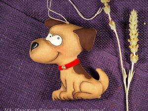 Шьём озорную кофейную собачку к Новому году. Ярмарка Мастеров - ручная работа, handmade.