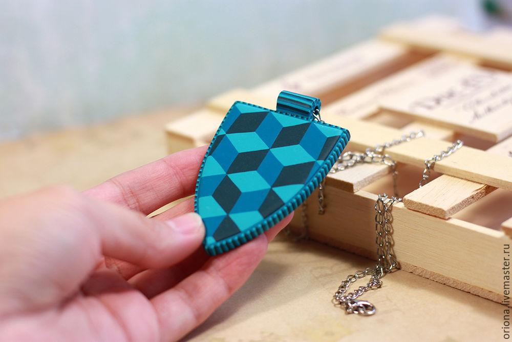 объемный куб на плоскости, лепка из пластики, анна ориона