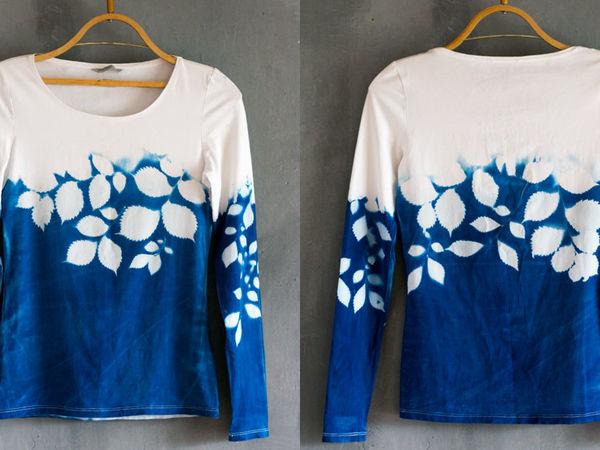 Окраска блузки с помощью растений и солнца   Ярмарка Мастеров - ручная работа, handmade