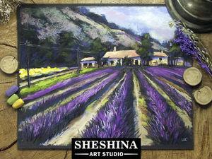 Видео мастер-класс: рисуем лето в Провансе сухой пастелью. Ярмарка Мастеров - ручная работа, handmade.