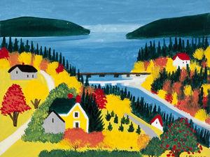 Солнечный мир оптимистки Maude Lewis. Ярмарка Мастеров - ручная работа, handmade.