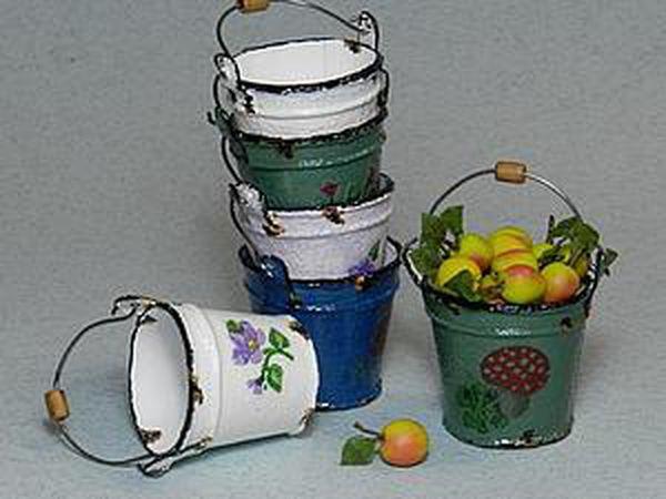 Easy-to-Do: Miniature Enamelled Bucket | Livemaster - handmade