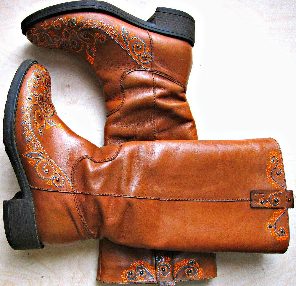 туфли с росписью