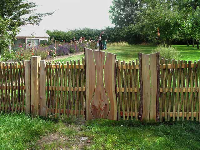 Как сделать забор на даче фото 104