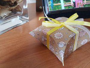 Видео мастер-класс: подарочная коробочка для небольшого сюрприза. Ярмарка Мастеров - ручная работа, handmade.