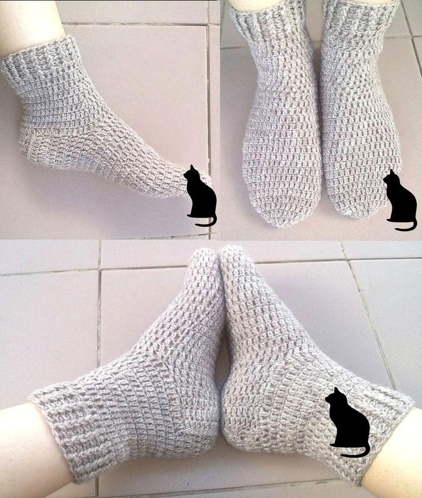 носки, вязаные носки, носки крючком, полушерсть, зимние носки