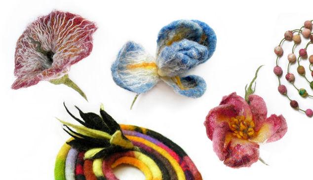 вдохновение, валяние для начинающих, учимся валять, войлочный цветок, валяние цветов, брошь-цветок, войлок для новичков