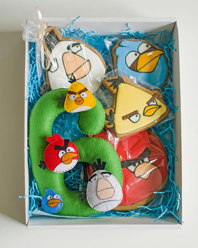 подарочный набор, подарки, мультфильм, цифра из фетра, подарок на день рождения, подарок на праздник, пряники имбирные
