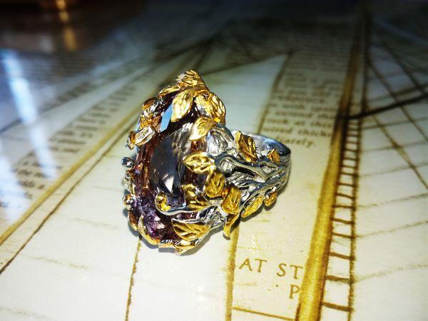 Новое кольцо с аметрином (Боливия)   Ярмарка Мастеров - ручная работа, handmade