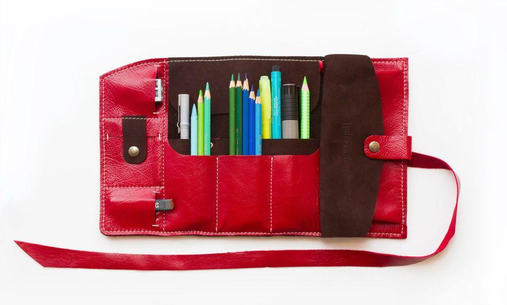 пенал, для хранения, для косметики, ребёнку, художник, карандаши, акция, скидки, кожа, подарок, необычный подарок