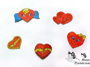 Делаем наклейки в виде сердечек-валентинок своими руками: видеоурок. Ярмарка Мастеров - ручная работа, handmade.