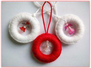 Как просто сделать подвеску «Рождественское чудо». Ярмарка Мастеров - ручная работа, handmade.