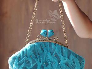 Про бирюзовую сумочку | Ярмарка Мастеров - ручная работа, handmade
