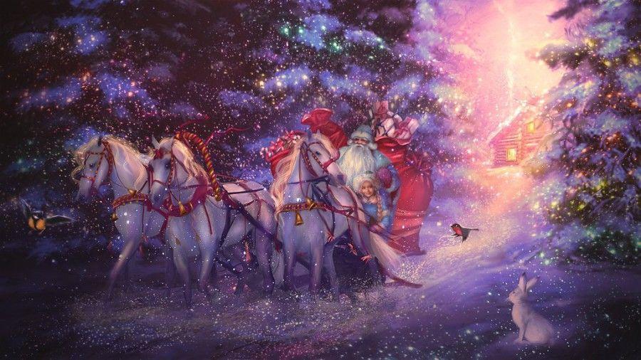 с новым годом, новый год, новый год 2018, поздравление, поздравляем, открытка, vincento, new year, 2018 год, картинки, открытка дед мороз, дед мороз, зима, зимние праздники