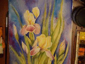Рисуем ирисы акварелью. Ярмарка Мастеров - ручная работа, handmade.