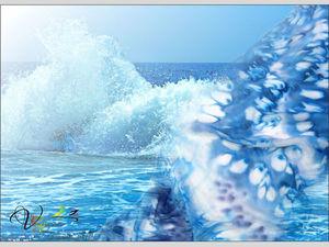 """Розыгрыш! Шарф """"Брызги цвета — море"""" за 100 рублей!. Ярмарка Мастеров - ручная работа, handmade."""