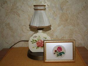 Продолжение ламповой истории. Настольная лампа из чашек. Ярмарка Мастеров - ручная работа, handmade.