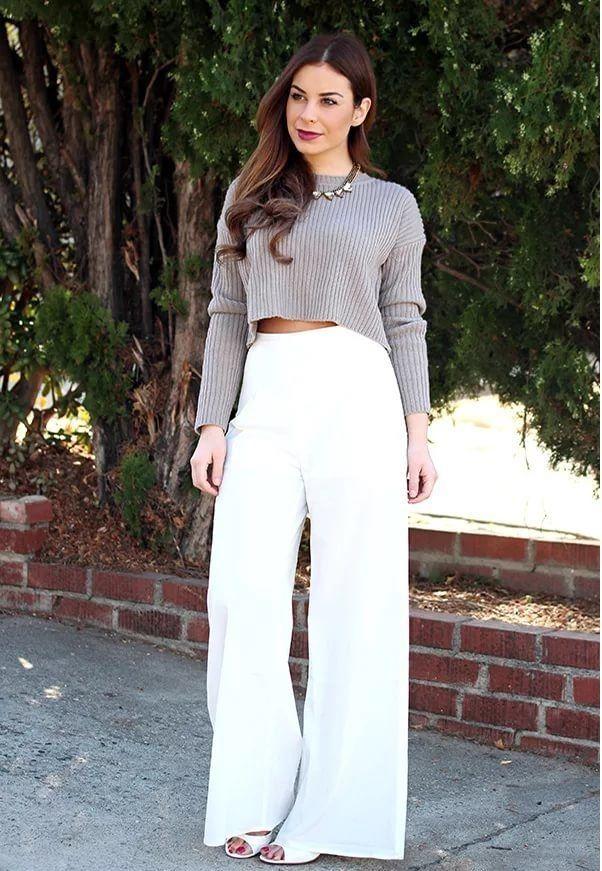 широкие брюки, уличная мода