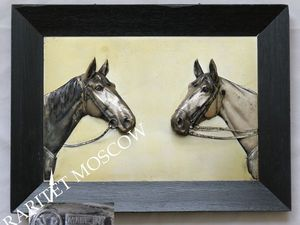 Картина панно конь лошадь серебрение Германия 7 | Ярмарка Мастеров - ручная работа, handmade