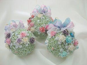 Набор новогодних шаров. Салатовое настроение. Ярмарка Мастеров - ручная работа, handmade.