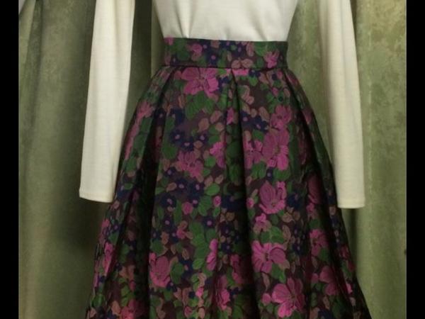 Аукцион на юбочку в складку жакардовую цветы! | Ярмарка Мастеров - ручная работа, handmade