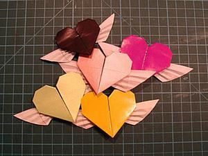 Folding an Origami Winged Heart. Livemaster - handmade