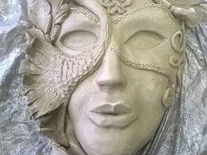 Процесс создания настенной керамической маски. Ярмарка Мастеров - ручная работа, handmade.
