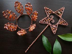 Создаем праздничные аксессуары. «Корона и волшебная палочка» из проволоки. Ярмарка Мастеров - ручная работа, handmade.