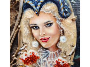 """""""Зима-чародейка"""". Много фото нового украшения!. Ярмарка Мастеров - ручная работа, handmade."""