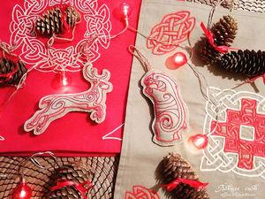 Новогодние игрушки в скандинавском стиле. Ярмарка Мастеров - ручная работа, handmade.