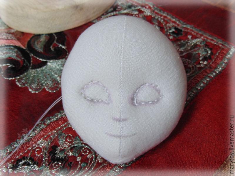 объемное лицо кукле