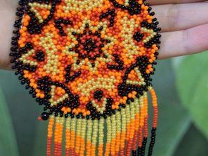 Плетем амулет «Северное Солнце». Ярмарка Мастеров - ручная работа, handmade.