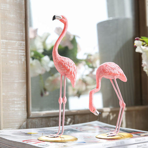 розовый, статуэтка, статуэтки, фигурки, статуэтка фламинго, фигурка фламинго, подарок маме