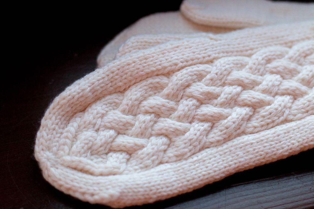 рукавички вязаные