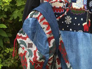Шьем джинсовый рюкзак. Видео мастер-класс. Ярмарка Мастеров - ручная работа, handmade.