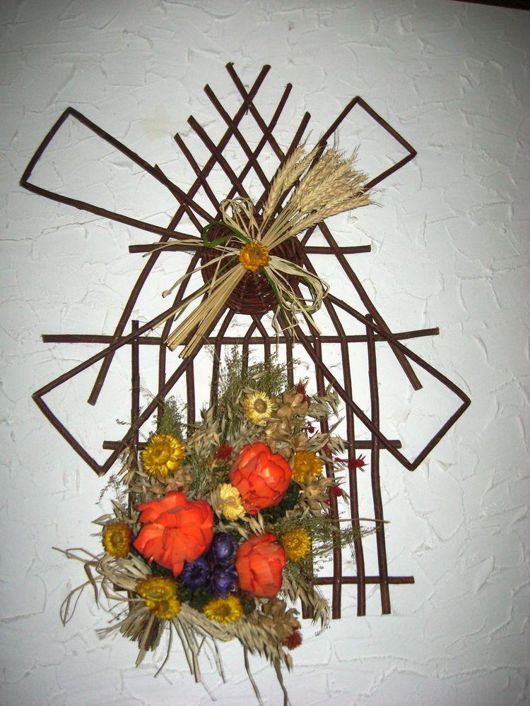 декор из пшеницы