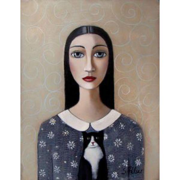 cat art, нарисованный кот