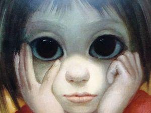 Картина маслом «Большие глаза» Маргарет Кин | Ярмарка Мастеров - ручная работа, handmade
